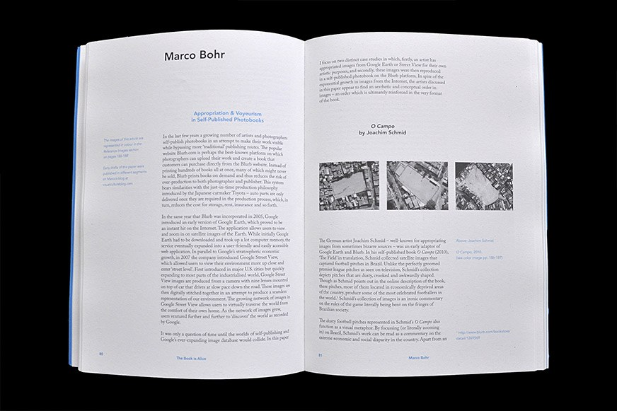 An inside spread of the The Book is Alive publication