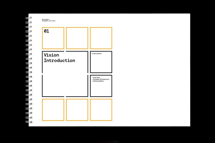 Internal layouts for project documents designed by Studio Mothership.