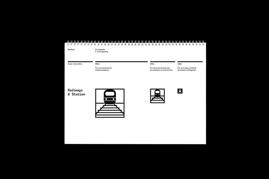 Pictogram design for application in different sizes on digital and print documents.