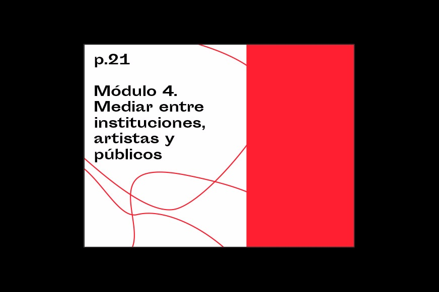 Internal title page from the digital publication designed as course material for a curatorial course at La Tabacalera, Madrid.