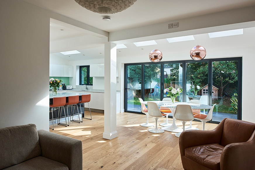 View of a house extension by Kantec in London.