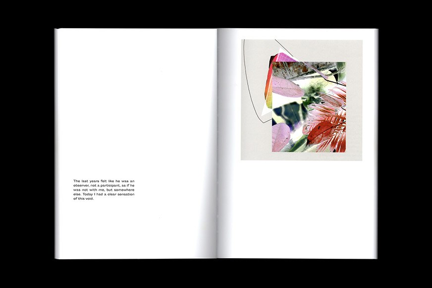 Internal spread showing photographic composition by Steffi Klenz.