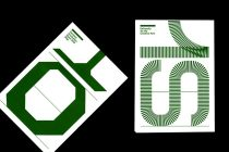 Fold out posters showing bespoke typographic elements spelling out the word Show.