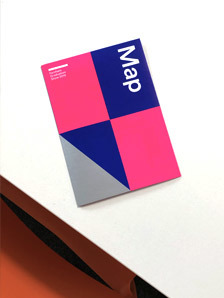 UCA Exhibition Fold-out Map with Pantone Fluro Ink
