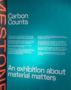 Carbon Counts exhibition designed by Studio Mothership for FCB Studios